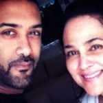 Alisha Chinai with her husband Rajesh Jhaveri