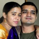 Anita Date with her husband Chinmay Kelkar