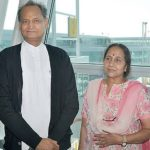 Sunita Gehlot With Her Husband Ashok Gehlot