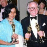 Bhanu Athaiya with her Oscar