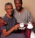 Brian Lara with his mother