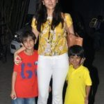 Gayatri Joshi with her Sons