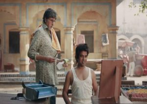 Ishtiyak Khan with Amitabh Bachchan in ad shoot