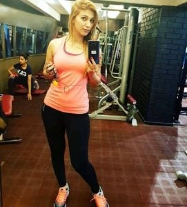Jasleen Matharu at Gym
