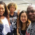 Naomi Osaka with her parents and sister