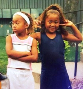 Naomi Osaka's childhood photo with her sister
