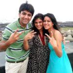 Nia Sharma with her mother Usha Sharma and brother Vinay Sharma