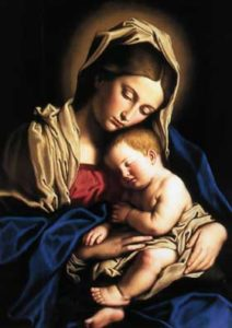 Painting of Mother Mary and Child Jesus