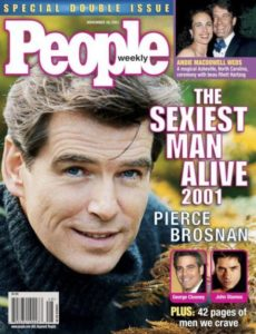 Pierce Brosnan was voted Sexiest Man Alive