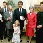 Pierce Brosnan with his step father, Mother and other family members