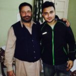 Prateek Singh Rai with his father
