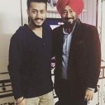 Pukhraj Bhalla with his father Jaswinder Bhalla