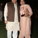 Rajeev Shukla with his wife Anurradha Prasad