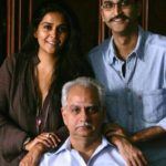 Ramesh Sippy with Rohan Sippy and Sheena Sippy