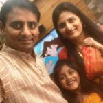 Sagar Karande With His Wife & Daughter