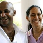Sanath Jayasuriya with Sandra De Silva