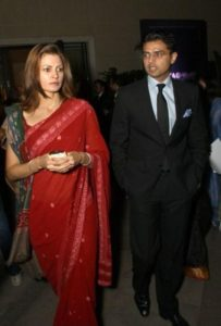 Sarah Abdullah With Her Husband, Sachin Pilot