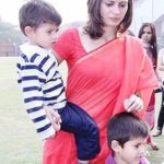 Sarah Abdullah With Her Sons