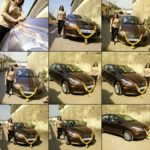 Seema Pandey with her car