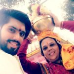 Shivashish Mishra with his mother