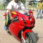 Shoaib Akhtar Riding His Ducati 999