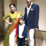 Shweta Mahadik with her husband Prasad Bhende and son Abheer Bhende
