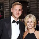 Stuart Broad and Bealey Mitchell