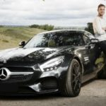 Stuart Broad with his Mercedes