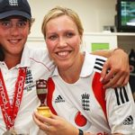 Stuart Broad with his sister