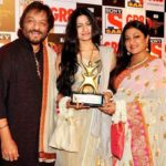 Sunali Rathod with her husband Roop Kumar Rathod and daughter Reewa Rathod