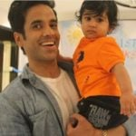 Tusshar Kapoor with his son