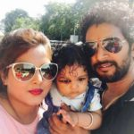 Yash Kumar Mishra with his wife and daughter