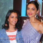 Anisha Padukone with her sister, Deepika Padukone