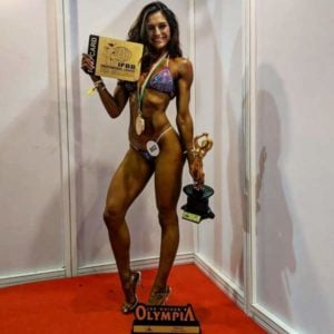 Annabel DaSilva in an Olympia Amateur event