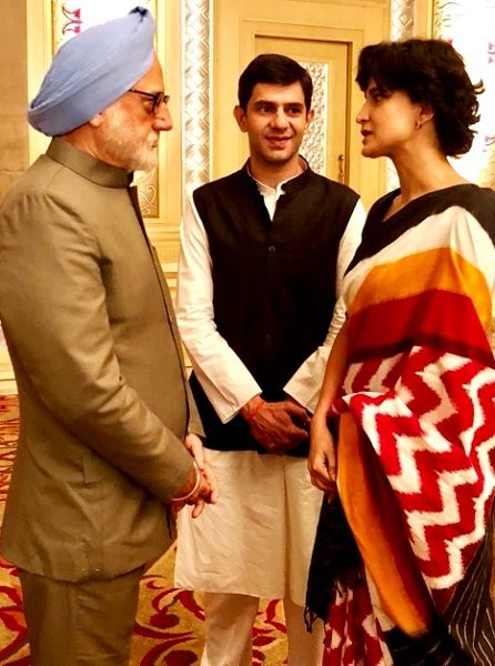 Arjun Mathur as Rahul Gandhi in 'The Accidental Prime Minister' (2018)