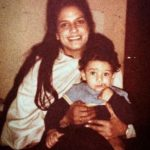 Arjun Mathur (childhood) with his mother