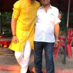Ashish Gole with his father