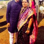 Ashish Gole with his mother
