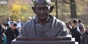 Bust of Mahatma Gandhi in Hannover, Germany
