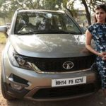 Chinmayi with her Tata Hexa