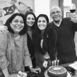 Eisha Chopra with her family