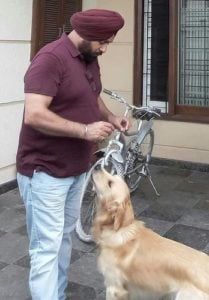 Hardeep Gill Dog Lover