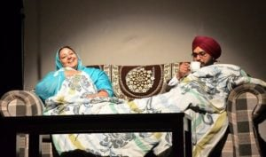 Anita Devgan doing theatres with Hardeep Gill