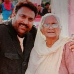 Hardeep Gill with his mother