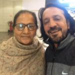Harish Khanna with his mother