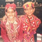 Malvi Malhotra with her brother (Childhood Picture)