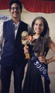 Manleen Rekhi with her dance winning trophy