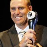 Matthew Hayden receiving ODI Player of the Year Award