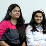 Megha Dhade's daughter (right) and sister (left)