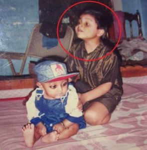 Mohit Sinha with his brother- Childhood Picture